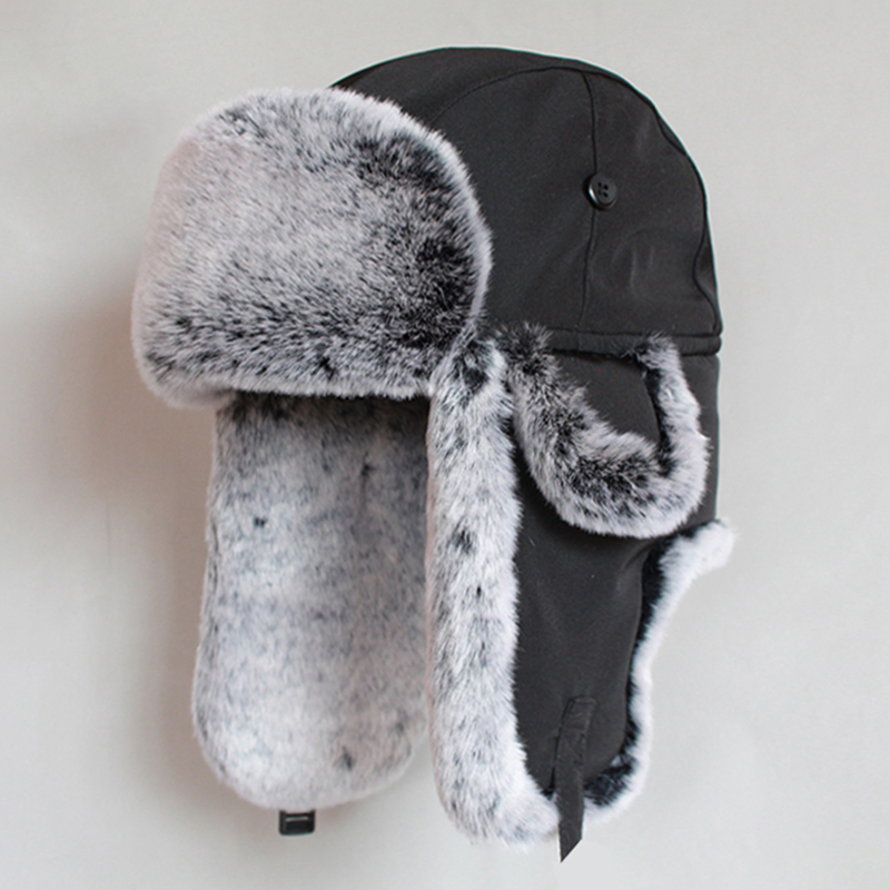 Men Women Bomber Hat Warm Winter Russian Ushanka Hat Thicken Thermal Cotton Earflap Trapper Hat