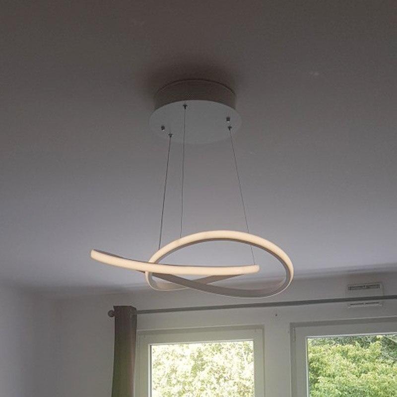 Акриловый светодиодный белый подвесной светильник креативный стиль бар подвесной светильник Декор современный подвесной светильник для г... - 3