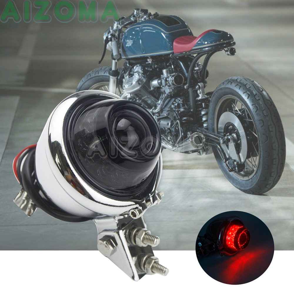 Adjustable Motorcycle Custom LED Tail Light For Harley Cafe Racer Triumph XS Retro Scrambler 12V Rear Brake Taillighs Stop Lamp