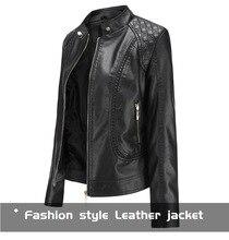 Женская короткая куртка из искусственной кожи, черная кожаная куртка на молнии с воротником-стойкой, весна-осень 2020