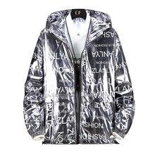 Glossy Jacket Men Gold Silver Color Spring Autumn Jackets Hi