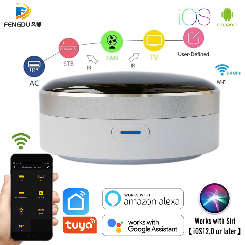 Universal IR Smart Remote Control WiFi + Infrared Home Control Hub Tuya App Works