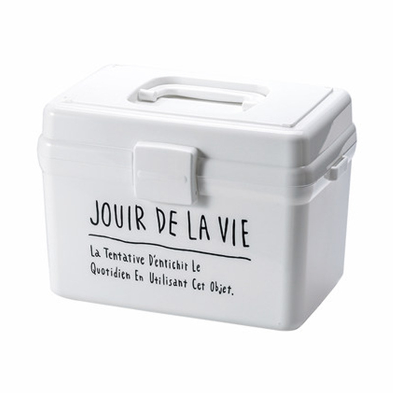 Plastic First Aid Box Medical Kit Medicine Box Pill Organizer Portable Multi-use Storage Box Household Tool Container
