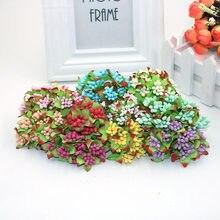 Lot de 10 tiges de fleurs artificielles en fil d'étamine, pour bricolage, couronne, décoration pour boîte de mariage, tendance