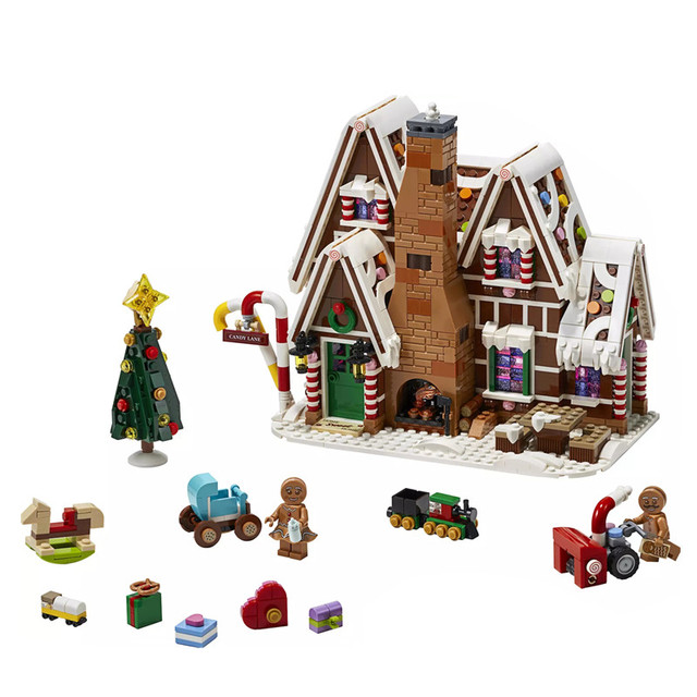 10267 1477pcs New listing Movie series Gingerbread house Building blocks brick Education Toys Christmas gifts