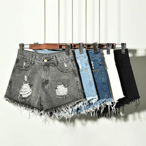 Sexy Short Jeans Fur-Lined High-Waist Casual Sizes Summer New-Arrival S-XXXXXXL Leg-Openings-Plus