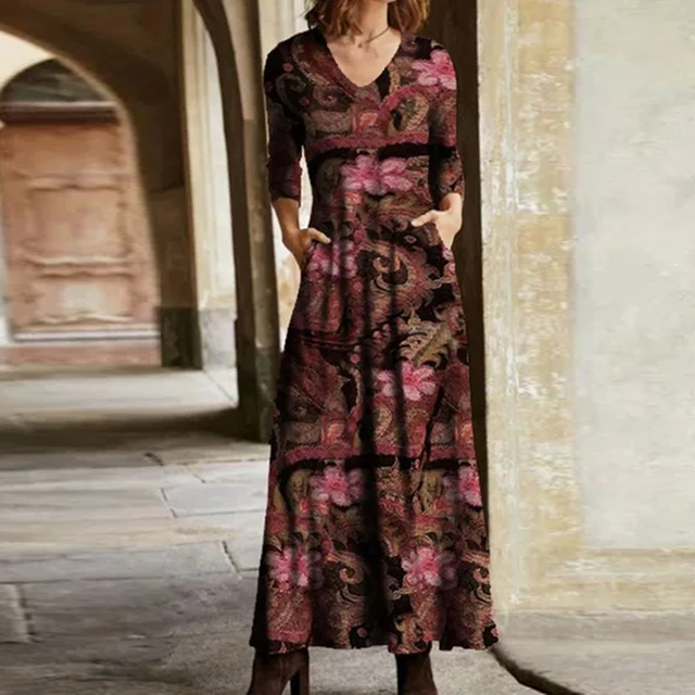 gorgeous long dress with low neckline and knee slit 6