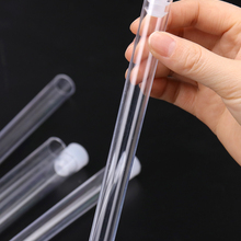 Test-Tubes Vials Chemistry-Supplies Plastic with Cap for Office School 15x150mm 10PCS