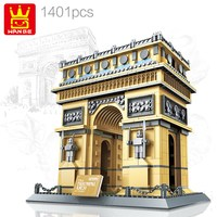 Wange 8021 Architecture PARIS ARC DE TRIOMPHE Series Building Blocks Educational Structure Construction Bricks Toy For Children