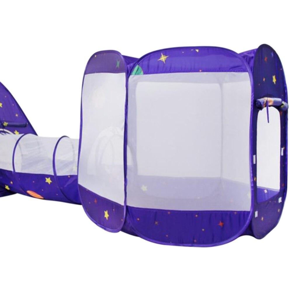 3 в 1 детская игровая палатка с туннель, быстрый складной дизайн шариками палатка с сумкой для хранения на молнии - 4