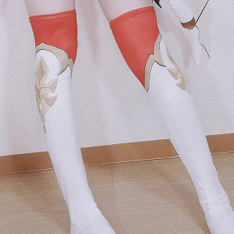 Jogo genshin impacto âmbar cosplay trajes conjunto