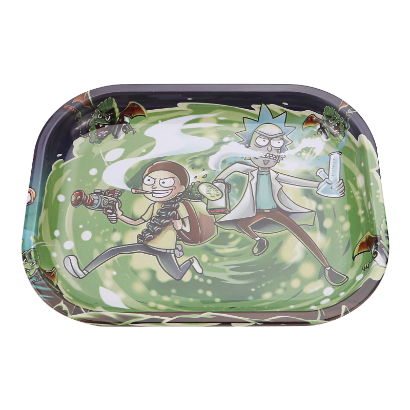 Metal Tin Rolling Tray 18cm*14cm Smoking Accessories Tobacco Rolling Papers Herb Grinder Small Tray Tobacco Storage Plate 5