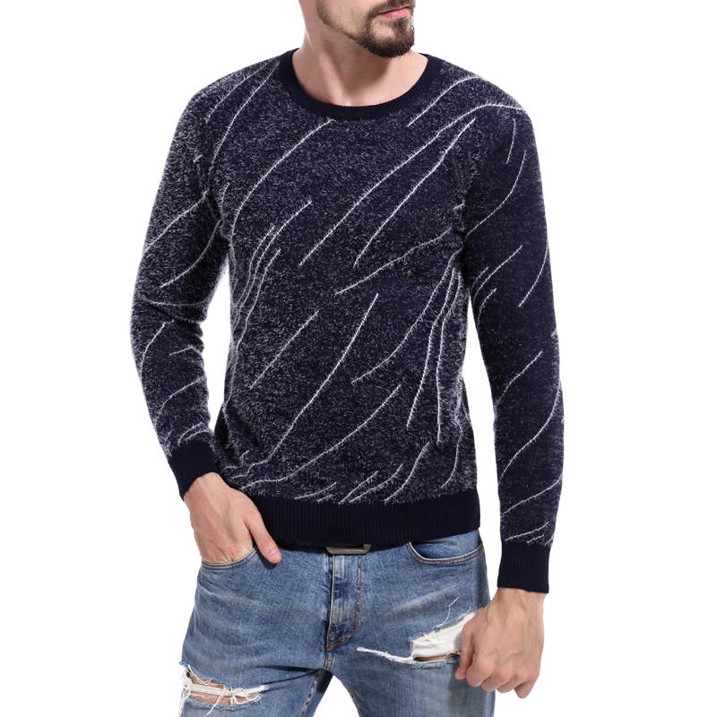 DIHOPE Cashmere Wool Sweaters 2019 Autumn Winter Slim Fit Pullovers Men Argyle Pattern V-Neck Pull Homme Christmas Sweater