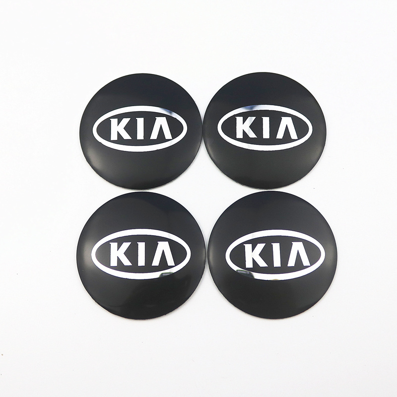 Car-styling Decorative Car Wheel Center Hub Caps badge Sticker FOR <font><b>KIA</b></font> K2 K3 K5 k9 Sorento Sportage R Rio Soul Auto Accessories image