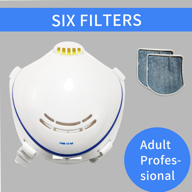 Electric Mask N95 Respirator Automatic Air Supply Filter Pm2.5 Earrings Masks Anti Dust Filter Air Influenza Prevent Flu White 3