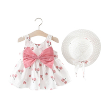 Baby Dress for Girls Little Kids Summer Clothes Children Flower Casual Dresses Small Attire Hat Prink Clothing Child Garment dresses lucky child for girls 24 6 dress kids sundress baby clothing children clothes