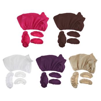 4 sztuk zestaw uniwersalny masaż obrus na stół pokrywa zestaw-3 w 1-ręka wsparcie osłona na Pad + twarz obicia na poduszki + nadający się do prania czy doliczone zostaną dodatkowe opłaty tanie i dobre opinie perfk Massage Table Sheet Set 185x60cm 72 15x23 40 inch cotton