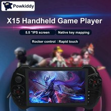 Powkiddy X15 Android Handheld Game Console WiFi Video Game Player 5.5-Inch Press Screen MTK8163 Quad Core 2G RAM 32G ROM TF Card(China)