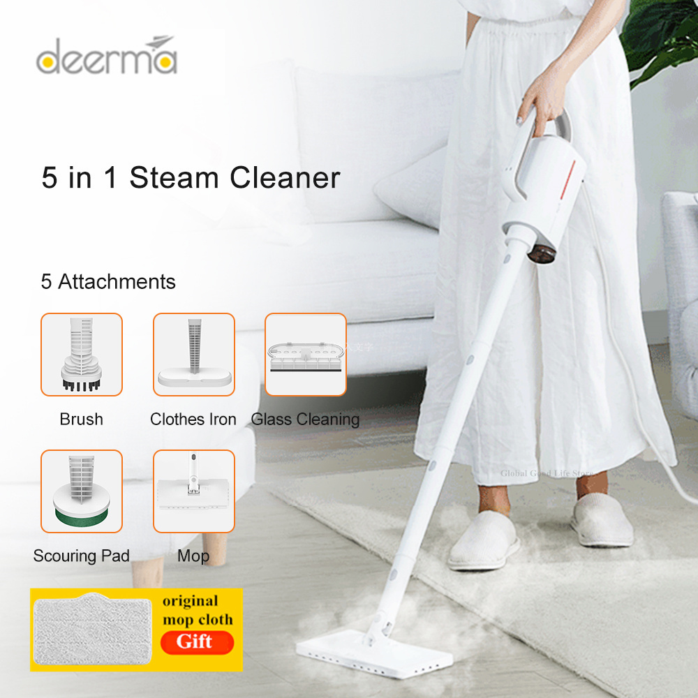 Deerma DEM-ZQ610 Handheld Steam Cleaner Steam Mop Cleaner Multifunctional Sterilization Anti-Dry Detachable Water Tank