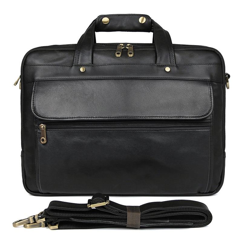 100% Genuine Cowhide Oily leather Men's Hand Travel Briefcases Messenger Bag Crossbody bag 7146A -1