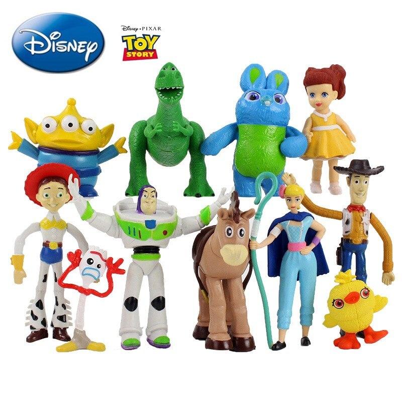 11 unids/set juguete Disney historia figuras de Anime Woody Buzz Lightyear alienígena de la pequeña Bo Peep modelo de acción de muñeca niños regalos de navidad
