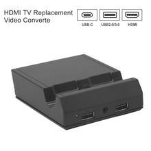 HDMI TV استبدال محول الفيديو قفص الاتهام صالح ل نينتندو سويتش NS وحدة التحكم الألعاب والاكسسوارات