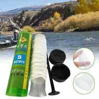 Hot 5M PVA Soluble Narrow Fishing Network Refill Stocking Bait Bag Protect Fish Net Water-soluble Multifilament Mesh Cartridge