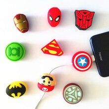 50pcs Cartoon Tier Kabel Protctor USB Telefon Ladegerät Daten Schutz Abdeckung Mini Draht Protector Kabel Winder Für iPhone