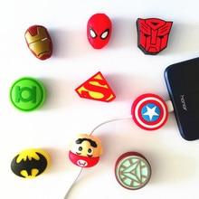 Bộ 50 Hoạt Hình Hình Cáp Protctor USB Sạc Điện Thoại Bảo Vệ Dữ Liệu Bao Mini Dây Bảo Vệ Cáp Cuốn Gọn Cho Iphone