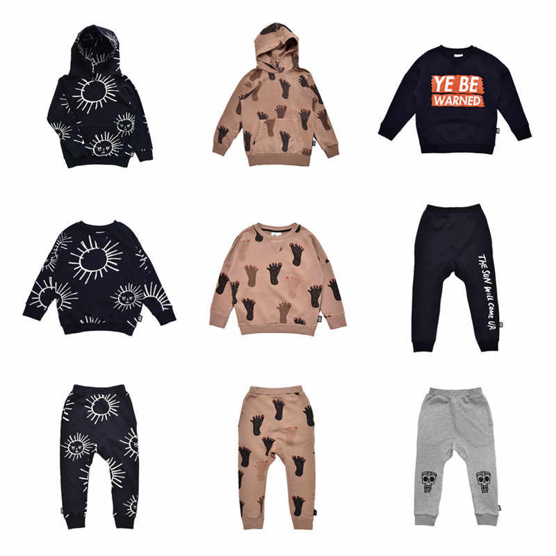 Little Man happy Fashion Toddler Boy Fall Sweatshirt Hoodie Kids Brand Clothes Feet Sun Print Boys Sweatshirts Hoody Harem Pants