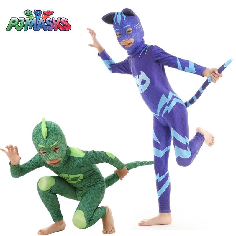 PJ Masks Boys Girls Cartoon Hero Catboy Gekko Cosplay Pj Mask Tail Costume Owlette Cloak Outfits Birthday Party For  Kid Cosplay