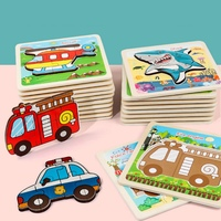 Wooden 1Pcs Puzzle Three Dimensional Colorful Wooden Puzzle Educational Toys Developmental Baby Toy Child Early Training Game