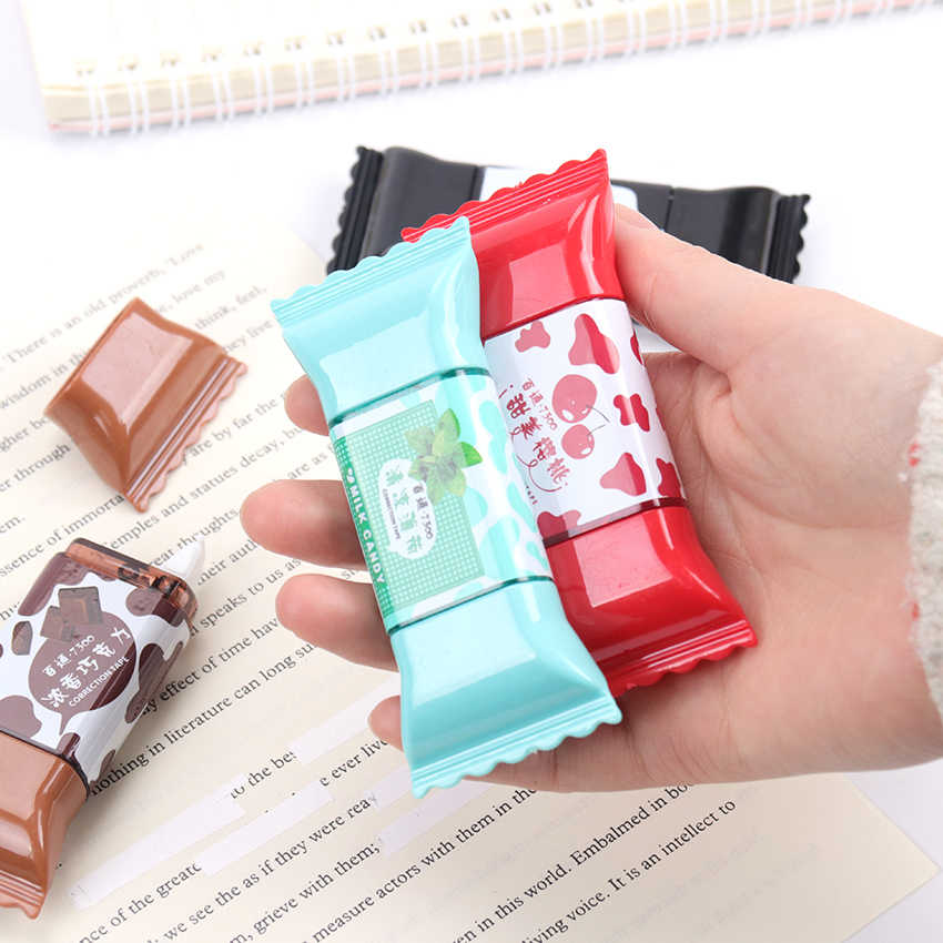 1PC Sweet Candy Correction Tape Creative Modeling Correcting Tape Students Kawaii 3.5m Student Gift School Supplies