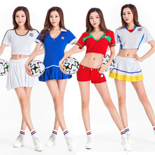 Football Cheerleading Uniforms Women Cheerleader Team Set Suit Costume Soccer Baby Football Girl Shorts Tops Cheer Sports
