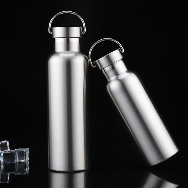 Stainless Steel Water Bottle Thermos Flask Leak-proof Single Wall Insulated Large Capacity Wide Mouth Hot Cold Water Bottle 5