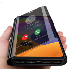 smart mirror flip case for samsung galaxy a21s a21 a31 a51 a41 a71 a11 cover чехол са мсунг a10 a20 a30 a40 a50 a70 s a80 a90 5g