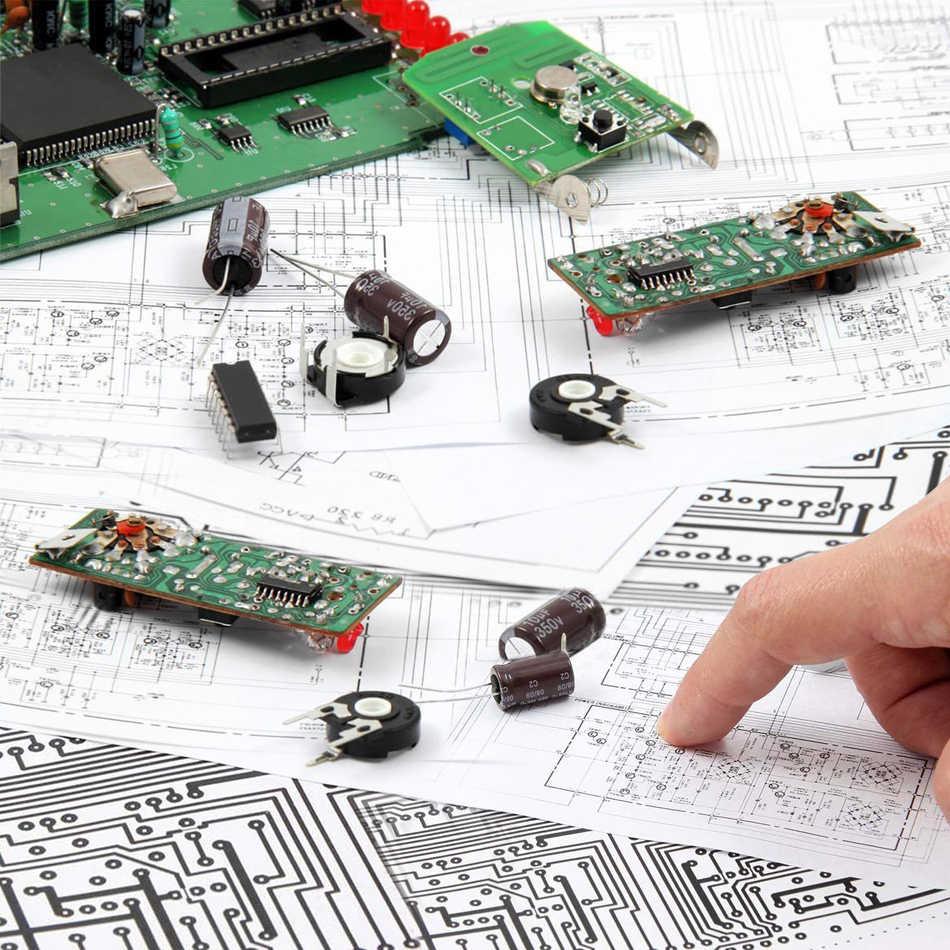 Kit de Prototype de carte PCB Double face 50 pièces à souder 5 tailles de circuits imprimés universels pour bricolage et projet électronique