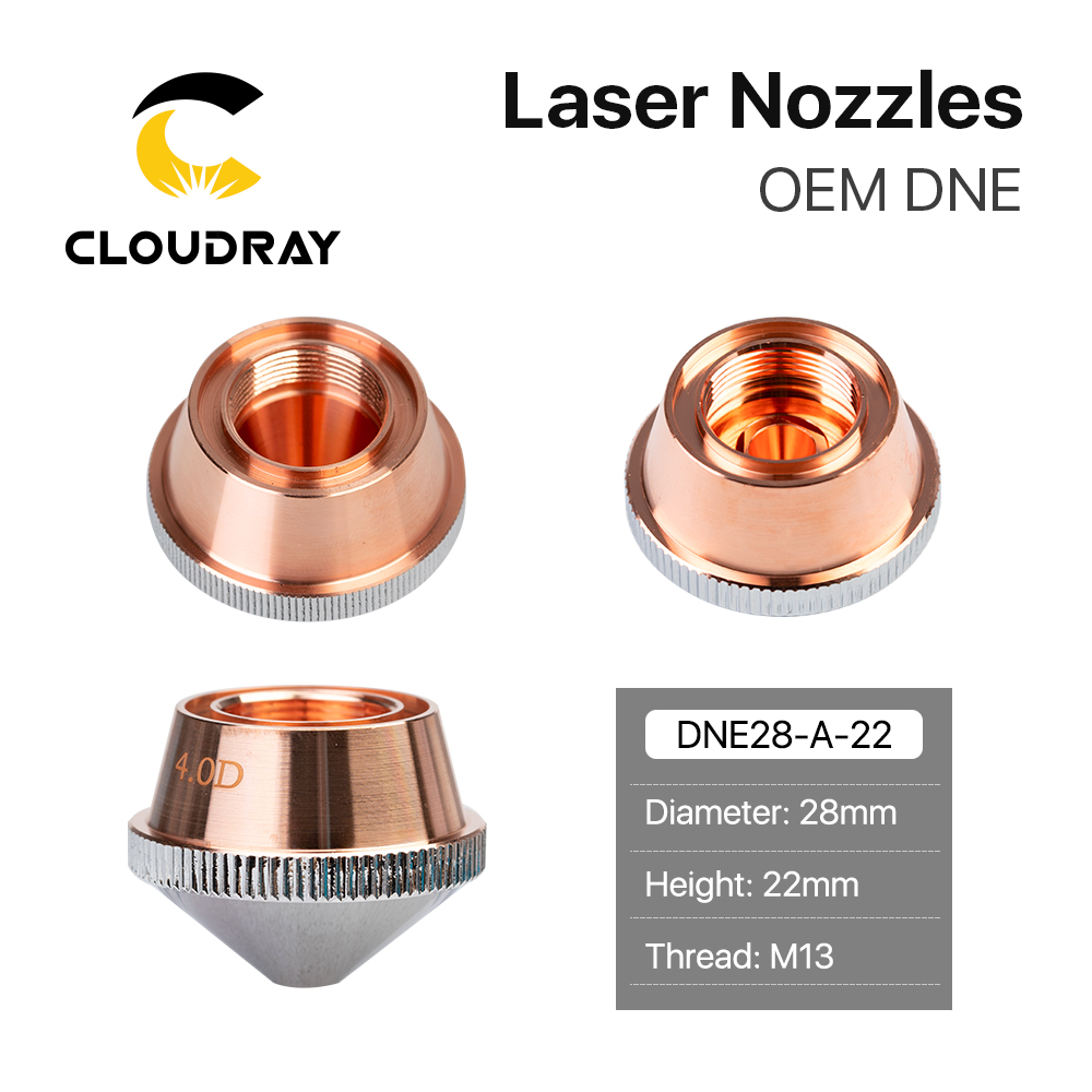 Cloudray DNE Type A Laser Nozzles Single Layer Double Layers Chrome-Plated Dia.28 H22 M14 For DNE Fiber Laser Cutting