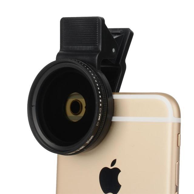 Lente de teléfono móvil CPL 37MM Filtro de lente profesional lente para cámara de teléfono móvil Filtro de cierre ND2 400 para Smartphone Pad ordenador