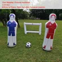 160cm adulto inflável treinamento de futebol goleiro goleiro tumbler ar futebol trem manequim ferramenta pvc inflável tumbler parede futebol