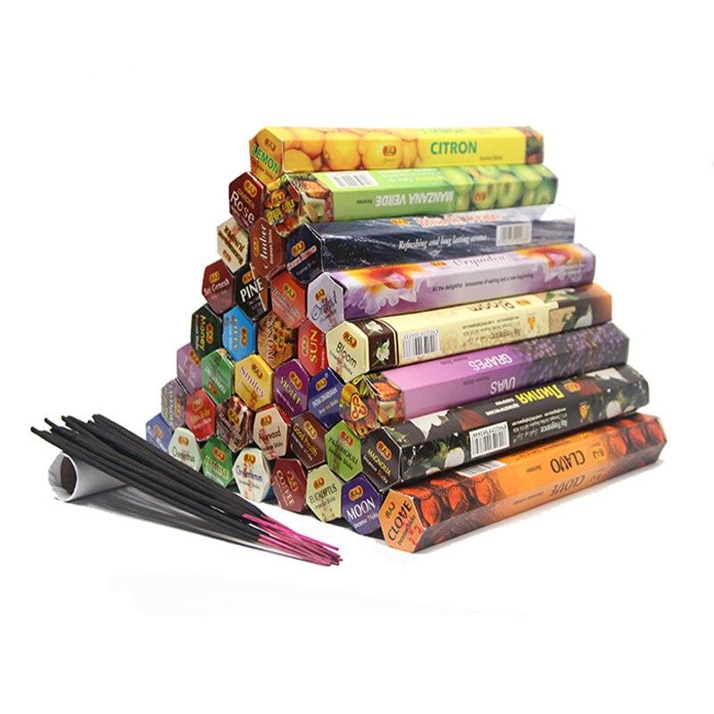 Tulip 48 Flavors Tibetan Incense Sticks Indian Incensea White Sage Flavor Sandalwood Incense Meditation Home Fragrance  A
