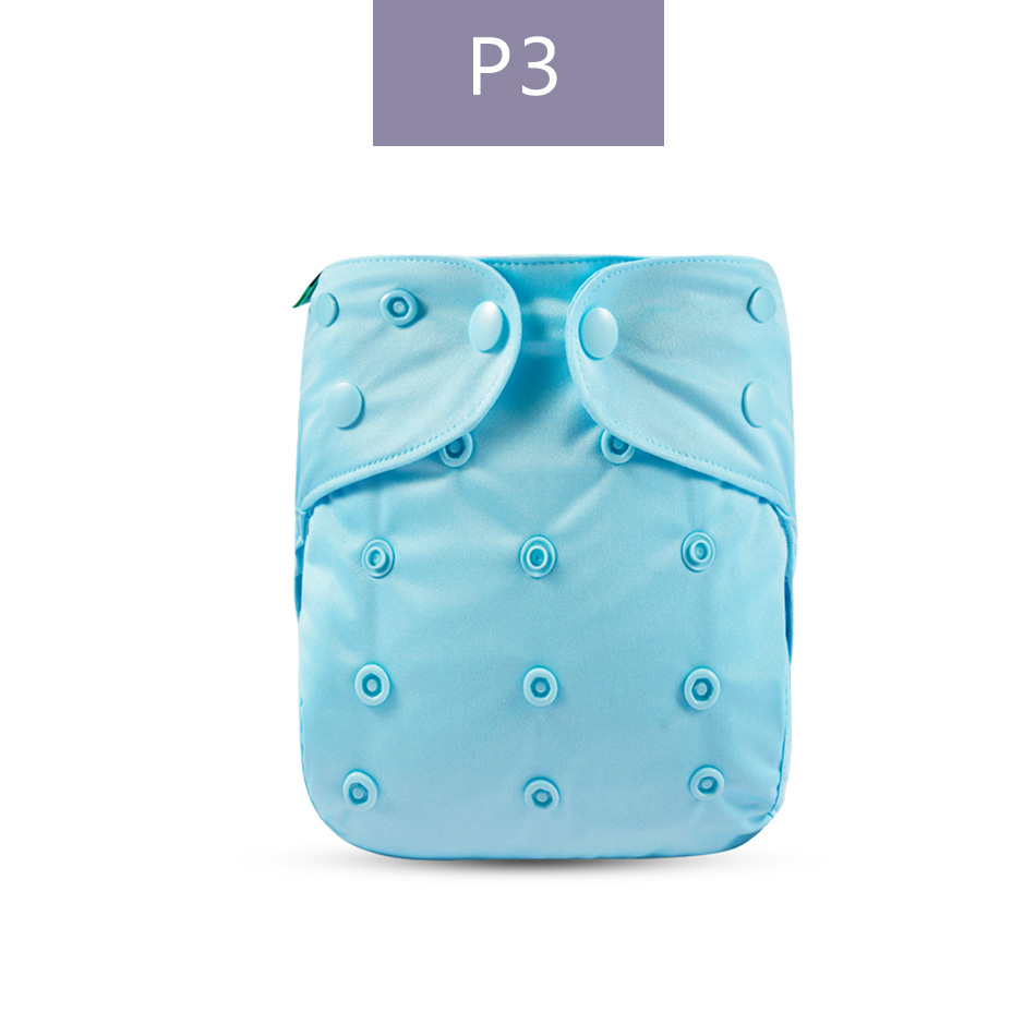 Elinfant 3 pcs Solid Color Cloth Diaper Cover Waterproof Baby Washable Diapers Pocket Reusable Cloth Nappies