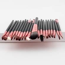 Ysdo 20 pçs kit de escova de maquiagem escovas kit de ferramentas de escova de maquiagem kit forro de olho macio natural-sintético kit de escovas de beleza de cabelo