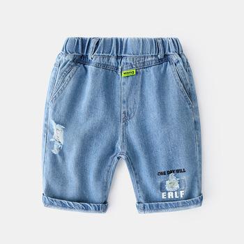 Letnie dżinsy Baby Boy koreański Baby Boy spodenki dorywczo dżinsy dla chłopców Damen Jeans wąż Baby Boy ubrania tanie i dobre opinie vinnytido Na co dzień Pasuje prawda na wymiar weź swój normalny rozmiar 54414 Elastyczny pas Chłopcy List Proste light
