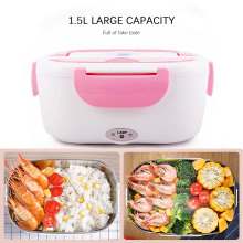 1.5L Portable Electric Lunch Box 110/220V Food-Grade Bento Lunch Box Heating Food Container EU/US/Car Plug Food Warmer 4 Buckles 1 5l 110 220v portable electric lunch box food grade bento lunch box heating food container 2 in 1 food warmer eu us car plug