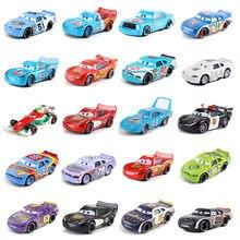 Voitures Disney Pixar 3 38Style Lightning Mc Queen Blue Jackson Storm1:55, modèle de voiture en métal moulé, jouet pour enfants, cadeau pour garçons