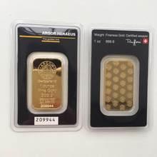 Oro de 1 OZ Bar la serie Perth Mint Barra de lingote de Moneda de Perth chapados en oro Bar réplica lingotes de oro