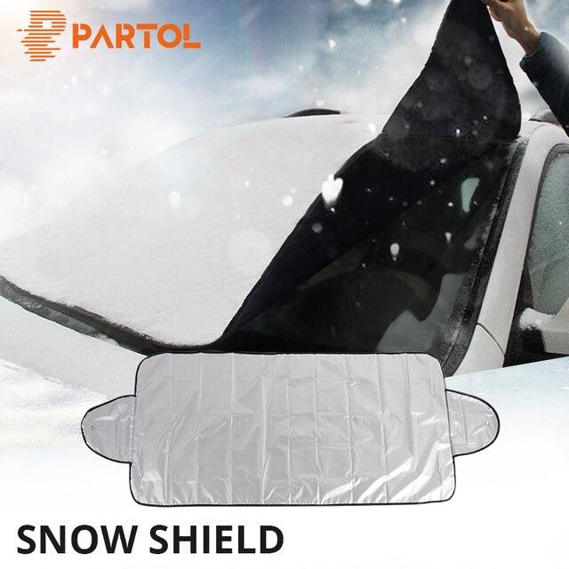 150x70 العالمي سيارة الجبهة غطاء الزجاج الأمامي السيارات ظلة الثلج الجليد غطاء للحماية الصيف الشتاء 190x120 سنتيمتر الزجاج الأمامي درع