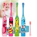 Детская электрическая зубная щетка с мультипликационным рисунком, двухсторонняя зубная щетка, электрическая зубная щетка или сменная щетк...