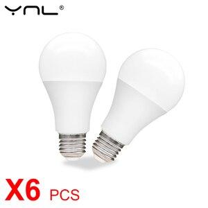 6pcs E27 LED Bulb Lamp 3W 6W 9